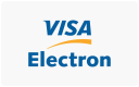 Visa Electron cards accepted here